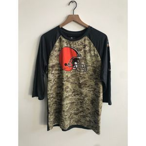 NFL Nike Cleveland Browns USA Camo Dri Fit shirt